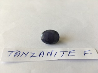 Tanzanite facetted