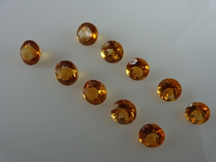 Details about  /10 PIECES NATURAL 4MM BRANDY CITRINE FACETED ROUND LOOSE GEMSTONE IF QUALITY