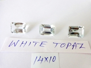Topaz White Facetted