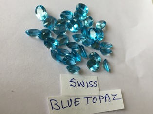Topaz Blue Facetted
