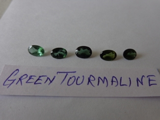 Tourmaline Green Facetted