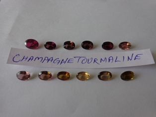 Tourmaline Cognac champagne color Facetted